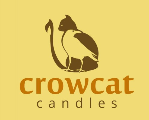 Portland Logo Design - Crowcat Candles