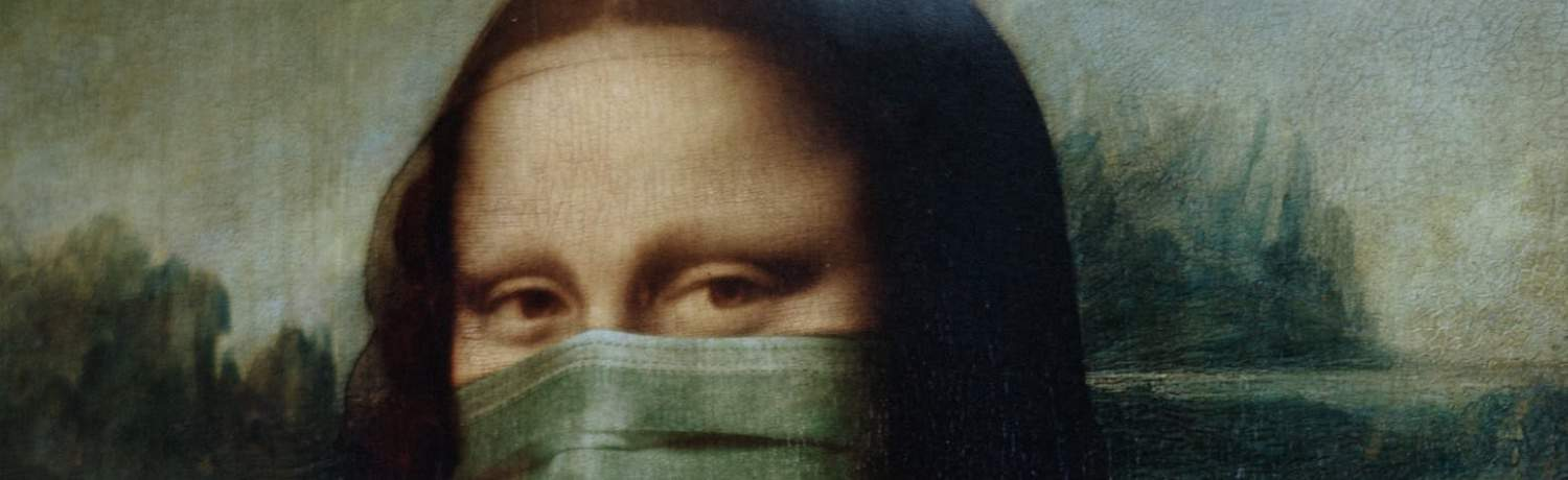 Mona Lisa, la Gioconda covid-19 artwork, web design, logo design portland, graphic design portland